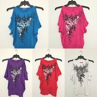 Lady Fashion Floral Blouse Shirt Tee Blue/red/white/purple/pink Top L & Xl