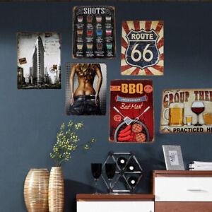 Vintage-Metal-Tin-Signs-Plaque-Pub-Bar-Home-Shop-Poster-Pictures-Club-Wall-Decor