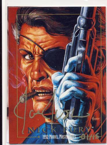 2016 Marvel Masterpieces Joe Jusko Silver Gold Autograph Base Buy Back What If