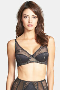 3eaa65229f9 NWT Dita Von Teese Y58468 Screen Queen Plunge Bra US UK 34D Black ...