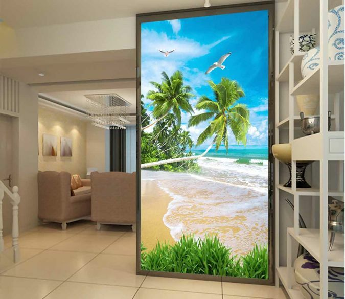 3D Quiet Beach 618 WallPaper Murals Wall Print Decal Wall Deco AJ WALLPAPER
