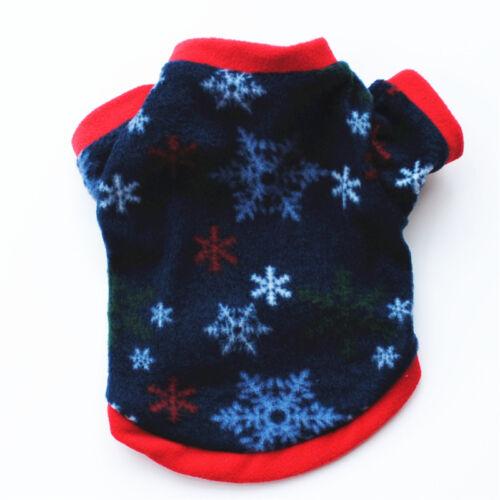 Pet Dog Winter Christmas Warm Clothes Coat Jacket Puppy Cat Shirt Dress Costumes