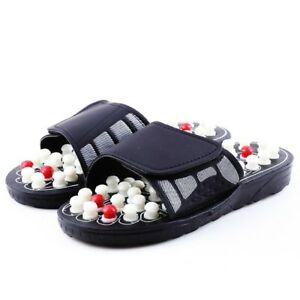 be8ad422ac4e Image is loading Acupuncture-Massage-Slippers-Reflexology-Sandals- Acupressure-Therapy-Foot-