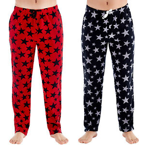 Harvey-James-Mens-Star-Fleece-Pyjama-Bottoms-Loungewear-Pants-Trousers