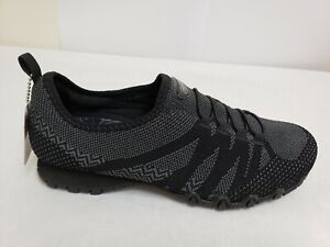 NEW-Women-039-s-SKECHERS-RELAXED-FIT-BIKERS-GET-WITH-KNIT-49422W-Black-137L-tm