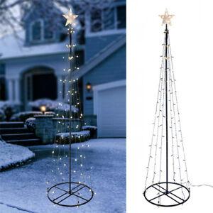 Tannenbaum Beleuchtet Aussen.Details Zu Weihnachtsbaum Beleuchtet Weihnachtsdeko Led Baum 240cm 150 Led Innen Und Außen