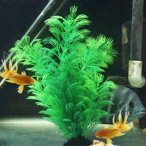 Artificial Fake Fish Tank Plants Aquarium Aquatic Decor Ornament Flower Gr Smtp Ebay