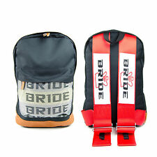 s l225 bride sparco red backpack jdm with racing harness as straps for