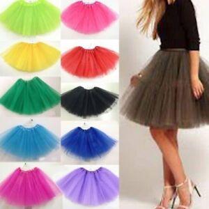 Womens-Adult-Dancewear-Tutu-Mini-Ballet-Pettiskirt-Princess-Party-Skirt-Costume