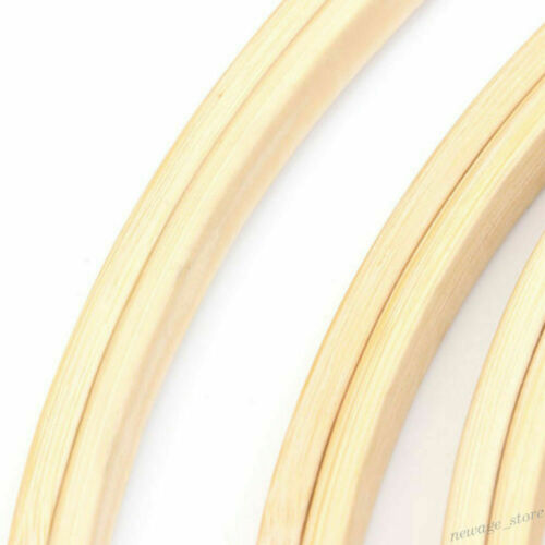 Bamboo Embroidery Cross Stitch Ring Hoop Frames Wood Sewing Round DIY Craft Tool