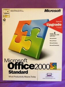MICROSOFT-OFFICE-2000-STANDARD-UPGRADE-WORD-EXCEL-GENUINE-UPGRADE-BOXED-WITH-KEY