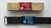 Custom Diabetes Diabetic Bracelet Wrist Band - Free Engraving Personalization