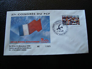 FRANCE-enveloppe-21-12-1990-27e-congres-du-PCF-cy7-french-t