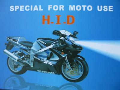 Motorcycle Slimline HID Xenon Light Conversion Kit 2 H4 Hi//Lo Bi-Xenon Bulbs