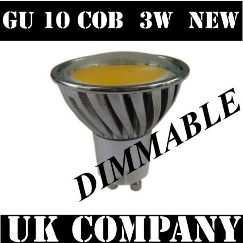 GU10 3 W COB LED Dimmable 340 LM jour blanc spotlight prochaine génération SMD