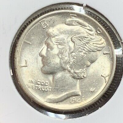 1916-1945 One 90/% Silver Mercury Dime 10c Coin Average Good from Mixed Lot 1