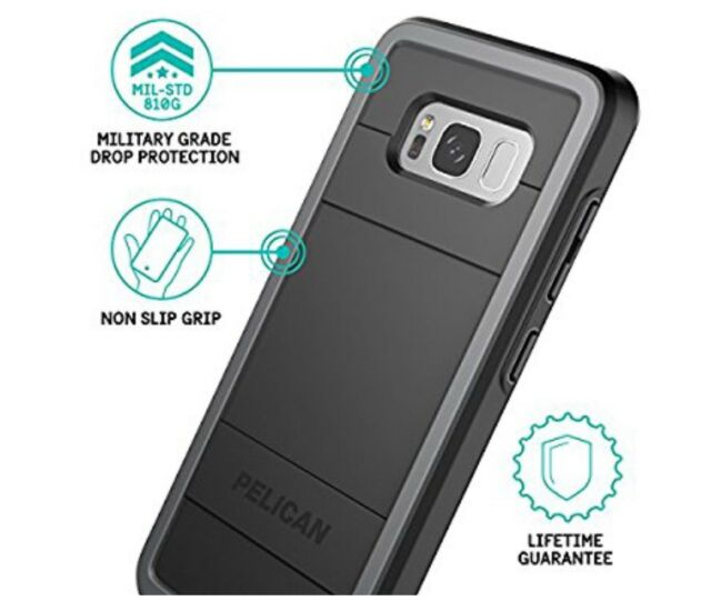 sale retailer 4c388 d424a Pelican Cell Phone Case for Galaxy S8 Plus - Black/light Gray for ...