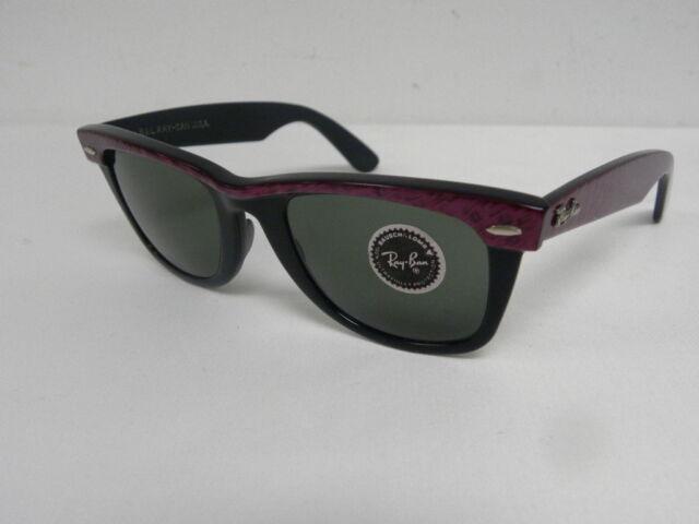 337c18fa6b New Vintage B L Ray Ban Wayfarer Amethyst Black Purple Street Neat W0523  50mm