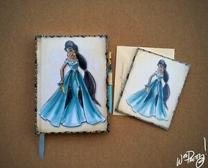 2011-Disney-Designer-Princess-JASMINE-Journal-amp-Note-Card-Steve-Thompson-Art