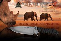 Tops Knives Silent Hero Knife Fixed Blade Hunting Survival Camping Hero-01