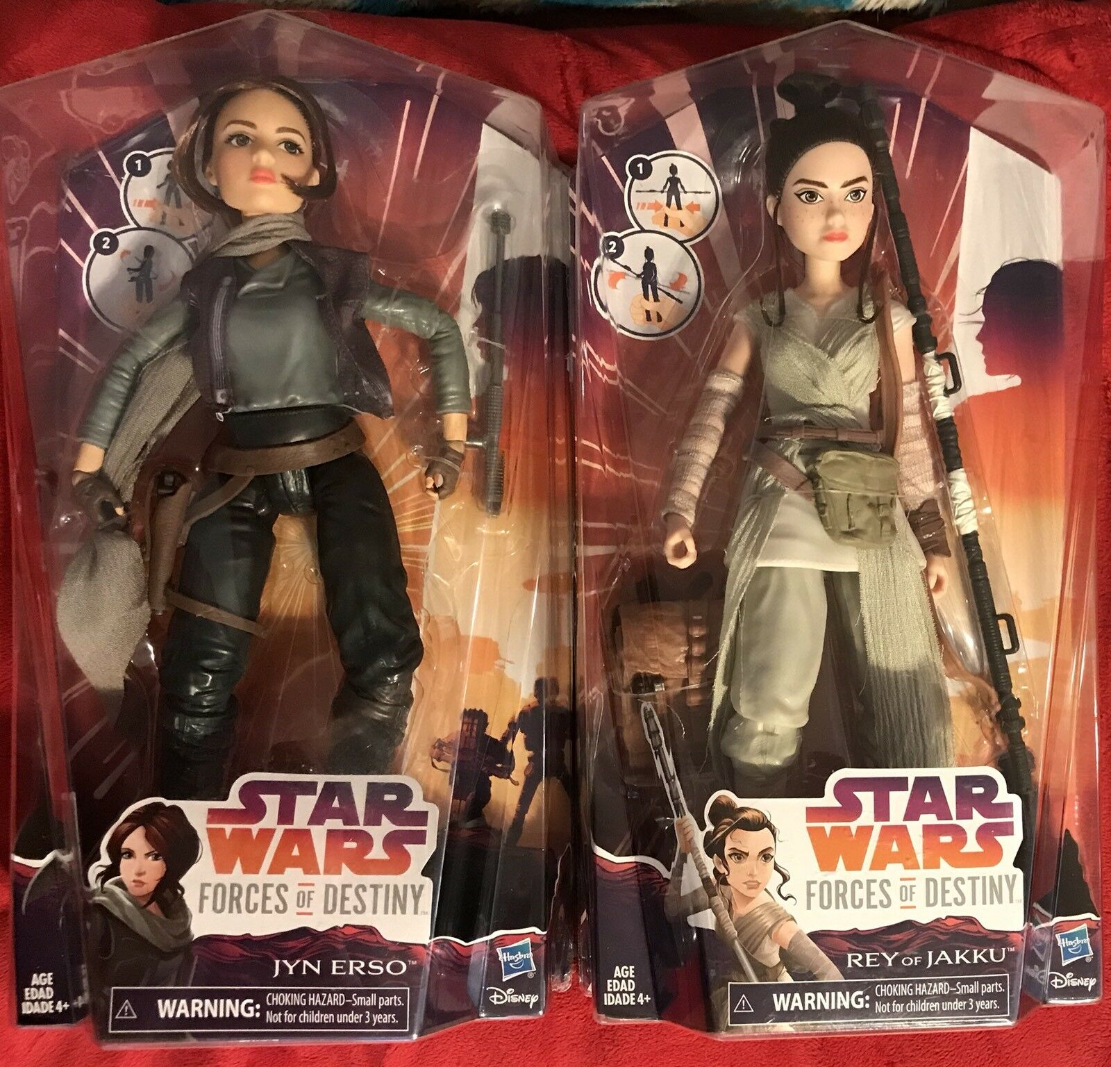 Star Wars Forces of Destiny Figures Rey of Jakku and Jyn Erso