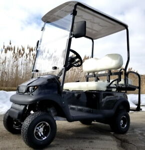 Electric Termite Golf Cart Mini Collapsible Four Seater Fully Loaded - BLACK
