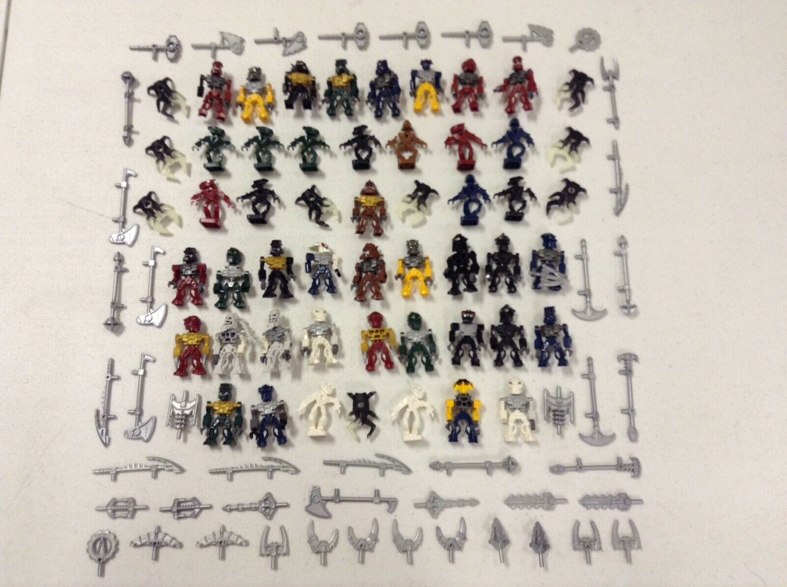 LEGO X53 Minifigures Bionicle With Weapons Accessories Minifigs Bulk Lot