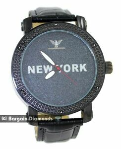 mens-black-diamond-New-York-clubbing-watch-black-dial-leather-man