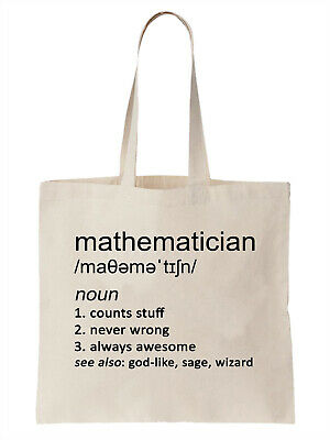 Math Bag Large Totes Beach Bags Canvas Tote Bag Abacus Math Tote Reusable Grocery Bag Tote Teacher Bag Gifts for Teachers Nerdy Witty Tote