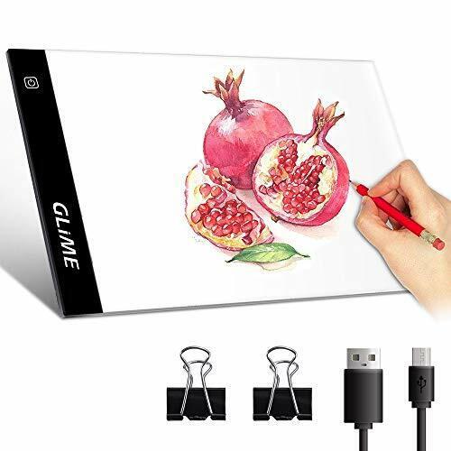 GLIME LED A4 Light Box Tracing Tattoo Board Ultra-Thin Display Light Pad