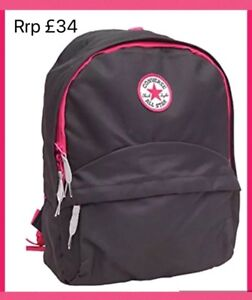 f49095b9ebb0 Image is loading CONVERSE-School-Bag-BackPack -RuckSack-PE-Swimming-Sleepover-