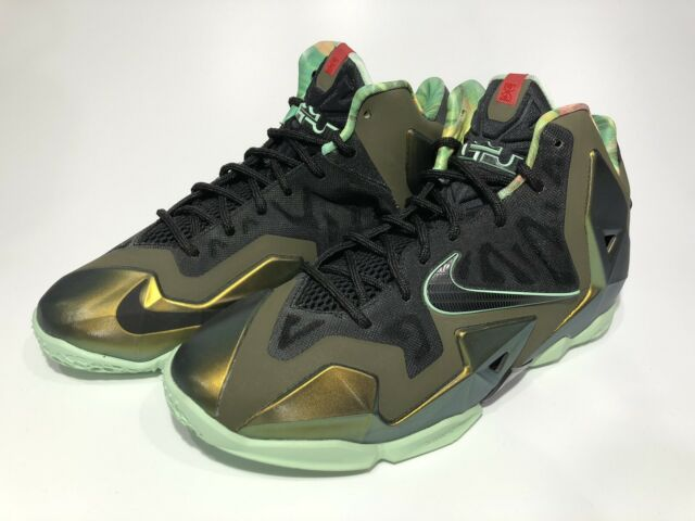 top quality discount shop fresh styles Nike Lebron 11 XI Kings Pride Parachute Gold Green Limited Release ...