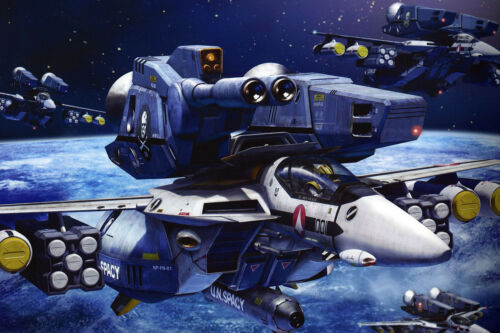 Macross//Robotech Skull Squad VF-1 Poster 12inchesx18inches Free Shipping