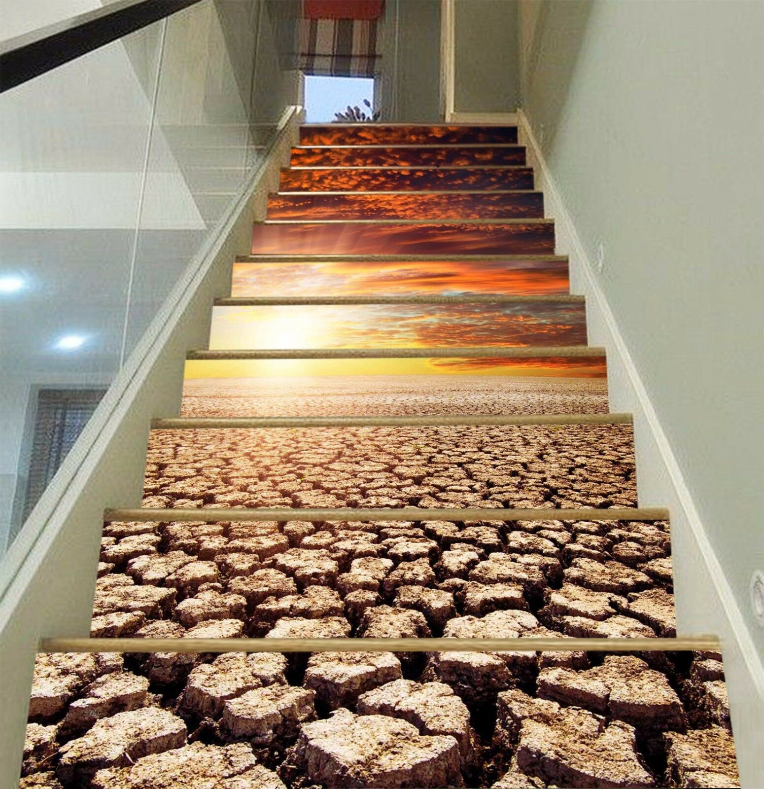 3D Dry Ground 774 Risers Decoration Photo Mural Vinyl Decal Wallpaper CA