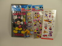 Mickey Mouse And Friends Stickers Craft Scrapbooking Lot Of 4 Pkgs