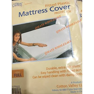 2/4/6/12 FULL Size Bed Mattress Cover Plastic White Waterproof PROTECTOR NEW