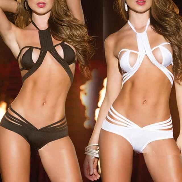 WOMEN'S SEXY LINGERIE FASHION BRA & PANTIES V-STRING RIBBON UNDERWEAR / PANTIES