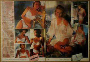 1991-Vintage-PAPER-PRINT-AD-2-pg-Vogue-silky-soft-tap-pant-teddy-lady-underwear