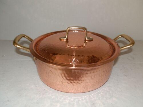 Casseruola in rame da cucina con interno stagnato professionale 25 cm