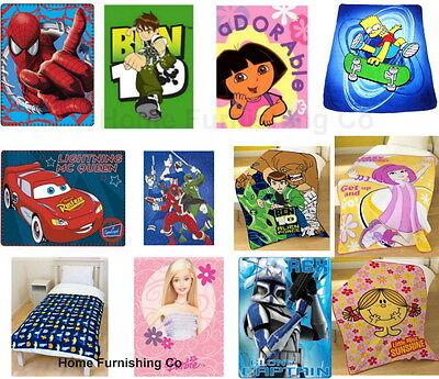 Vernederen Novelty Characters Children / Kids Disney Fleece Blanket / Throws Official Verlichten Van Warmte En Zonnesteek