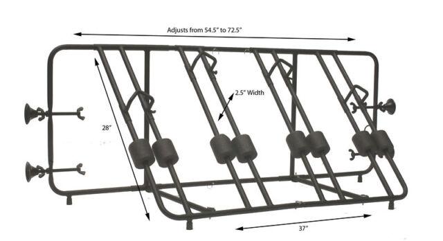 Advantage BedRack 4 Bike Truck Bed Rack Carrier Pick Up Includes Lockable Cable