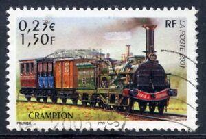 STAMP / TIMBRE FRANCE OBLITERE N° 3408 CHEMIN DE FER / TRAIN / CRAMPTON