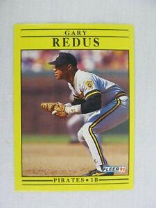 Gary Redus Pittsburgh Pirates 1991 Fleer Baseball Card 47