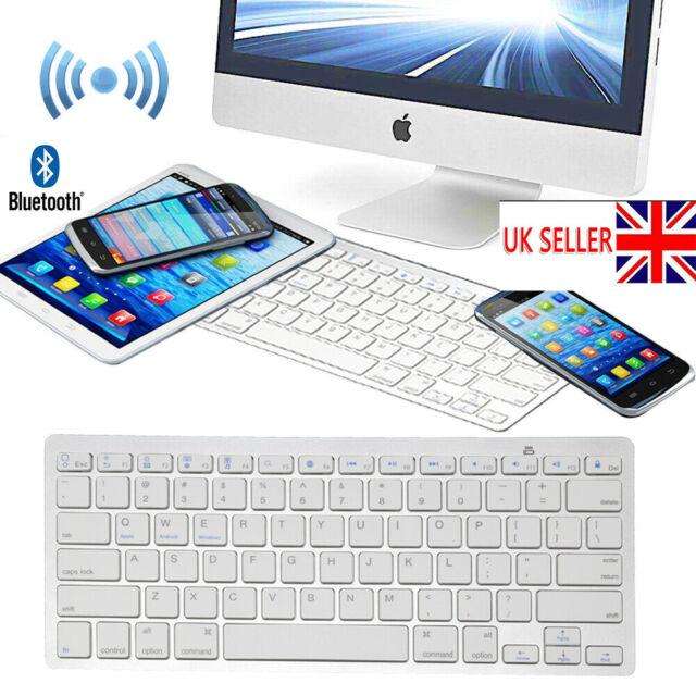 Wireless 3.0Bluetooth Slim Keyboard For iMac/ PC/ Tablet Smart Phone iPad iPhone