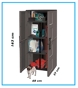 Armadietti Plastica Per Esterni.Armadio Armadietto Portascope 2 Ante In Plastica Per Esterno