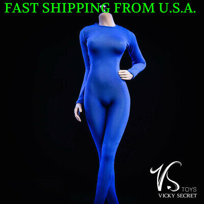 "1//6 Slim Tights Stretch BodySuit Long Sleeves For 12/"" Female Figure PHICEN ❶USA❶"