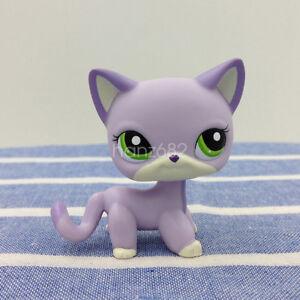 Rare Littlest Pet Shop Cute Lps 2094 Purple White Short Hair Cat