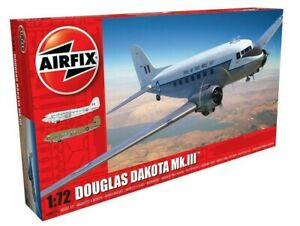 AIRFIX-1-72-DOUGLAS-DAKOTA-MK-III-RAF-EDITION-MODEL-AIRCRAFT-PLANE-KIT-A08015A
