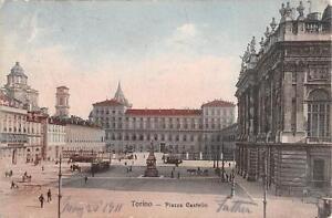 """Ansichtskarten Alte Ansichtskarte Torino Piazza Castello """"2703"""" Kleinformat 1930 Europa"""