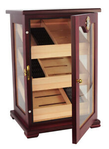 CT Count Cigar Humidor Humidifier Wooden Case Box Hygrometer 1sev Elegant 150